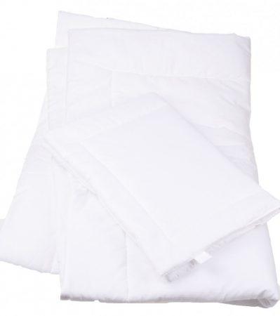 215009 100 % Pamut, fehér, 2 részes gyerek ágynemű garnitúra