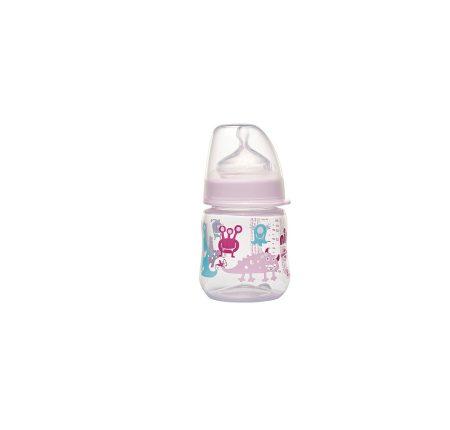 35056 NIP PP széles szájú cumisüveg 150ml szilikon tejes etetőcumival