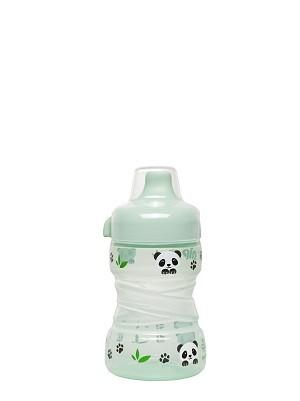 35099 NIP Panda cseppmentes tanulópohár itatócsörrel 260ml