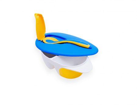 55042871 Fedeles etető tányér kanállal