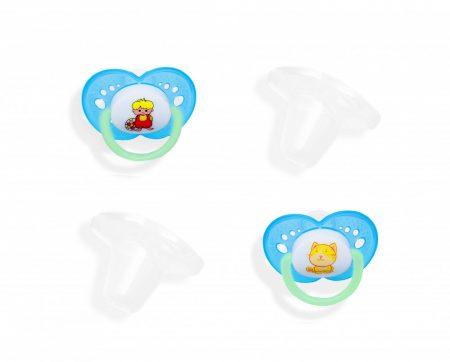 55043229 Baby Bruin 2 db-os szilikon játszócumi kupakkal 1-es méret