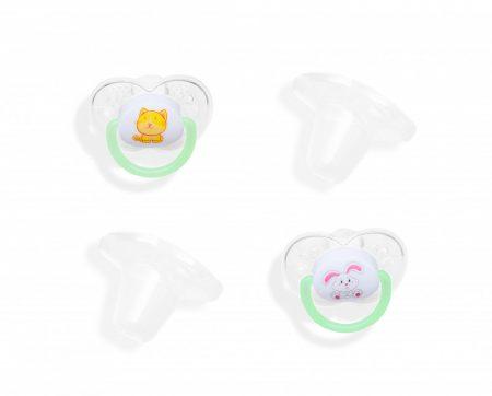 55043230 Baby Bruin 2 db-os szillikon játszócumi kupakkal 2-es méret