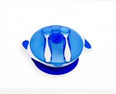 55043233 Tapadókorongos tányér tetővel és evőeszközzel