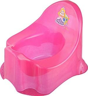 55043370 Áttetsző Princess bili csillámos pink