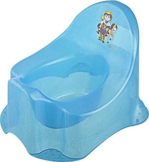55043374 Áttetsző Princess bili kék csillámos