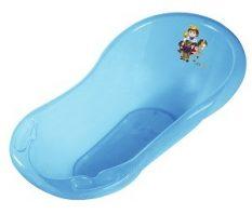 55043377 Áttetsző Princess kád 100cm kék csillámos