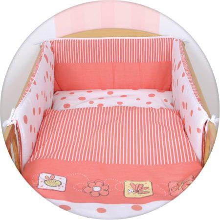 55043455 3 részes gyerek ágynemű garnitúra bélelt fejvédővel