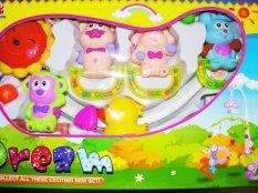 55044102  Állatos fogós műanyag forgó zenélő(majom,nyúl,kuta,macska)