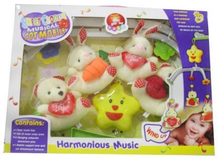 5504150 Plüss szerelmes állatok forgó zenélő